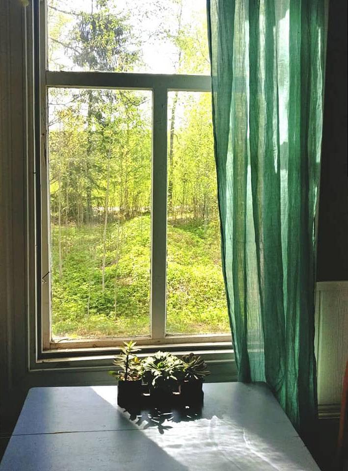 Päätalon kammari, näkymä ikkunasta ulos